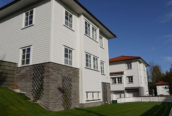 Fire nye boliger i tun
